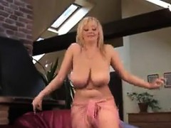 Busty Blonde Chick Dancing...
