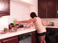 Very hot housewife gets...