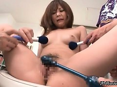 Nasty asian slut gets horny...