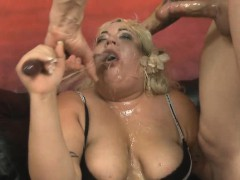 Fat Blonde Amateur With...